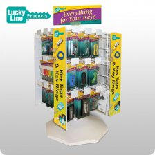 4-Panel Revolving Counter Display (33 SKUs) (LUCKY LINE)