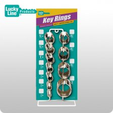 Split Key Ring Display - 11 SKUs / 365 Pieces (LUCKY LINE)