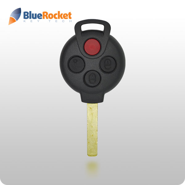 Mercedes 4-Button Remote Head Key SHELL (BlueRocket)
