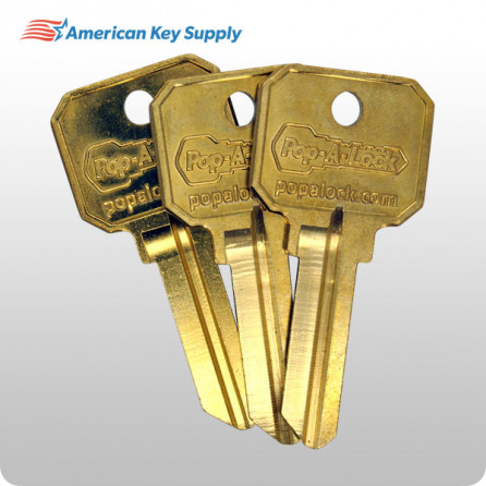 pop a lock keys your phone number on front blank back brass